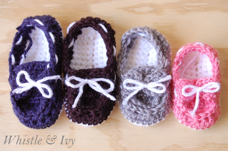Baby Boat Booties free pattern