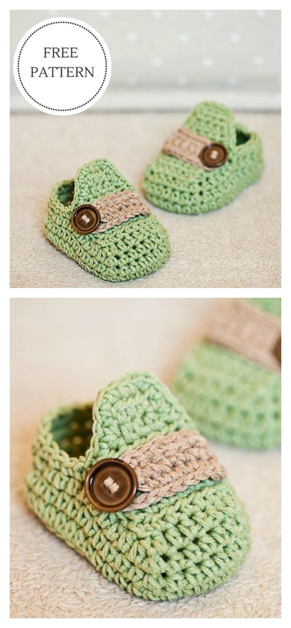 Best Free Crochet Patterns Online : Crochet Baby Moccasin Free Pattern