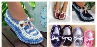 Beautiful Crochet Button Loafers with Pattern For Your Next Project
