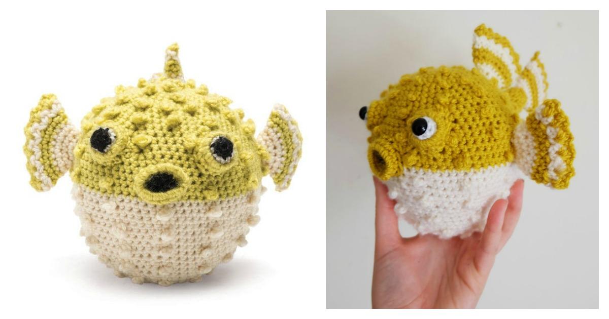Crochet Fish Amigurumi: Clownfish - Free and quick pattern | 630x1200