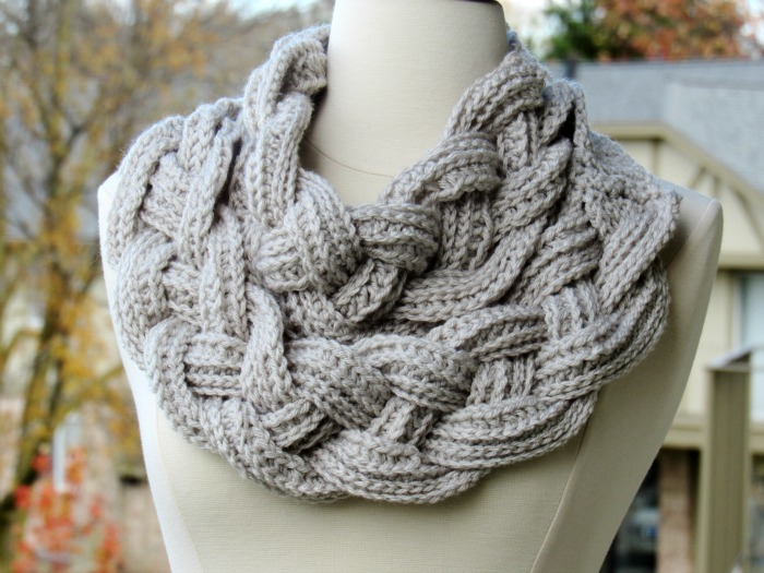 Crochet Double Layered Braided Cowl with Free Pattern