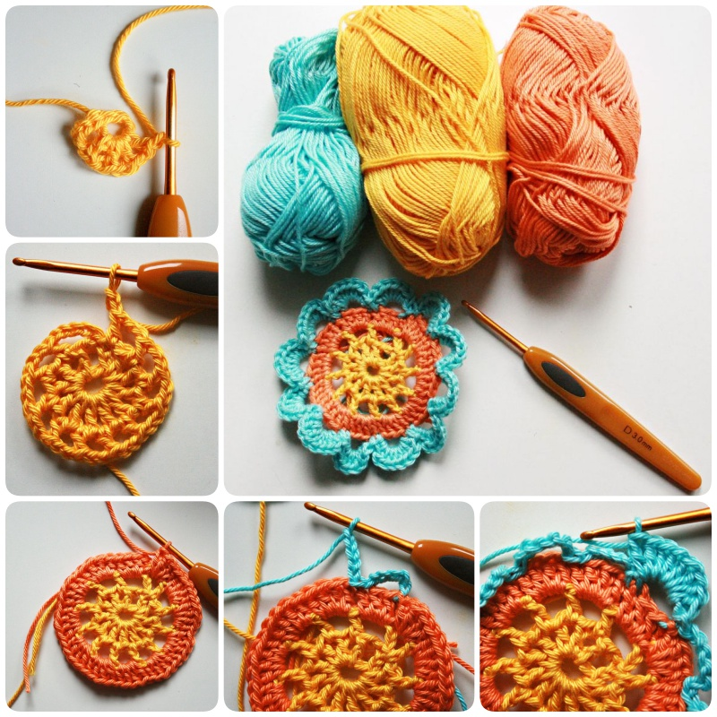 Crochet Japanese Flower with Free Pattern