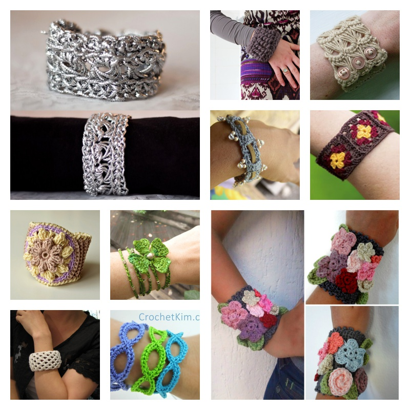 Crochet Pretty Bracelets with Patterns