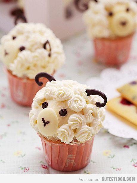 Cute Sheep Cupcakes