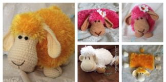 DIY Adorable Crochet or Knitted Lamb Pillow