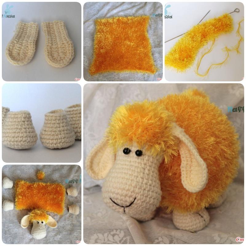 DIY Adorable Knitted Lamb Pillow