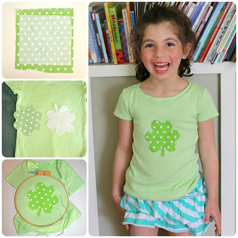 DIY Applique Shirt for St. Patrick's Day