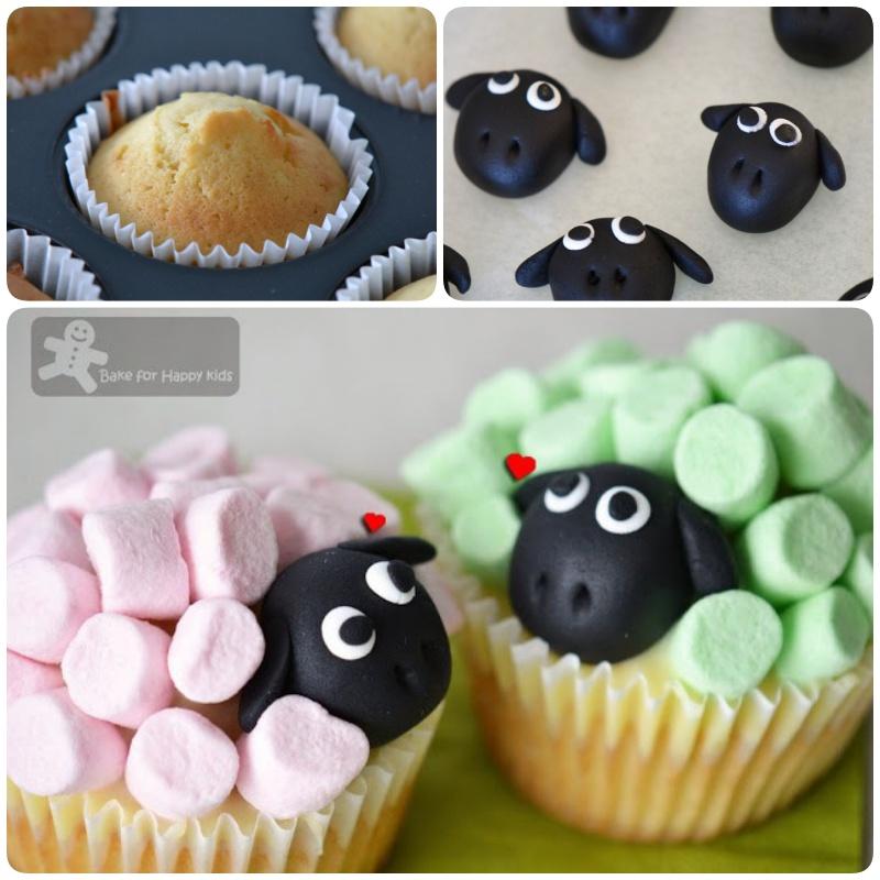 DIY Marshmallow Sheep Cupcakes