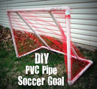DIY PVC Pipe Soccer Goal #pipe # soccer #goal