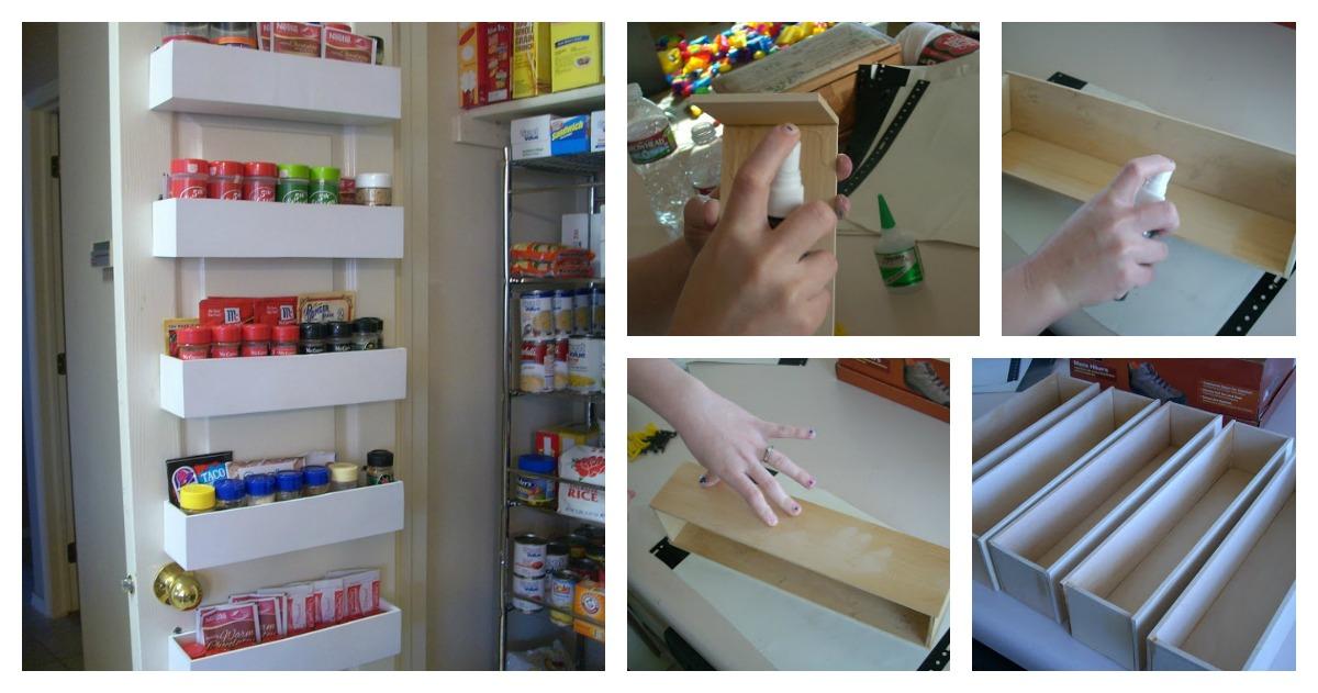 diy pantry door spice racks that create more space