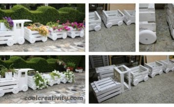 DIY Train Planters Out Of Old Crates to Adorn Your Garden