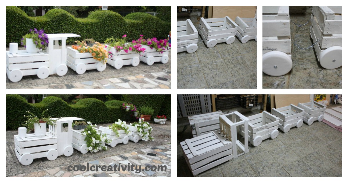 Cute Diy Home Decor Ideas: DIY Train Planters Out Of Old Crates To Adorn Your Garden