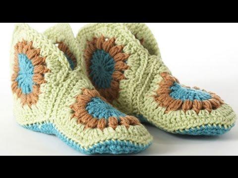 DIY crochet slippers youtube