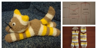 DIY cute halloween sock kitten / cat