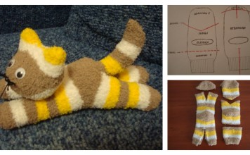 DIY cute halloween sock kitten / cat