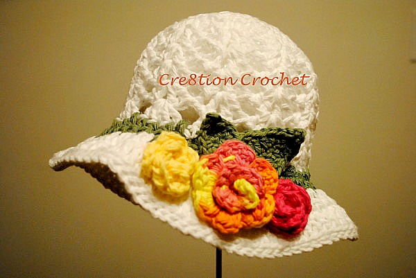 Free Summer Hats To Crochet For Kids Flower Sun Hat Cool