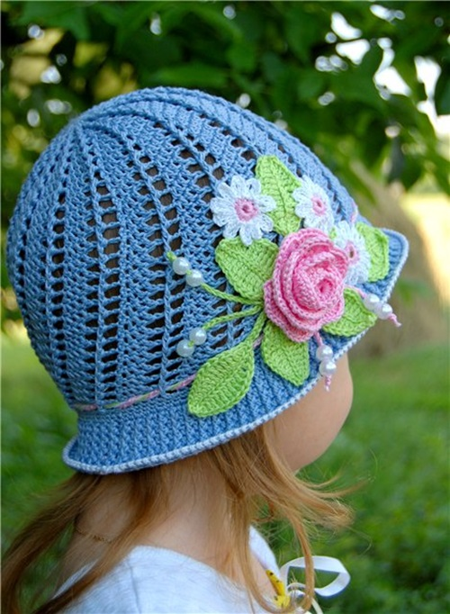 Free Summer Hats to Crochet for Kids - panama sun hat