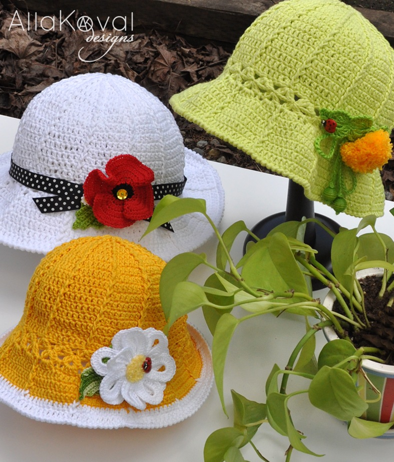 Free Summer Hats to Crochet for Kids -pretty sun hat