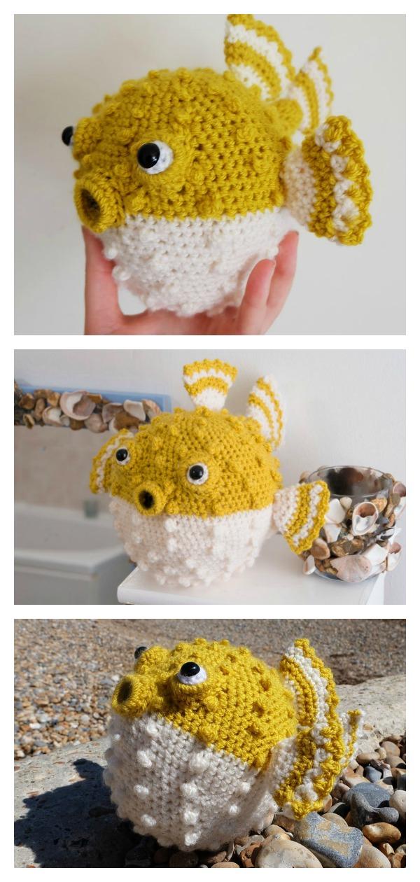 Handmade Crochet Cute Puffer Fish