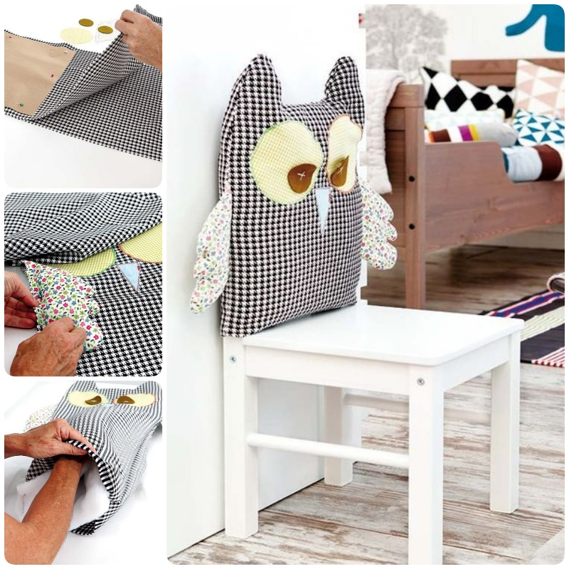 Click Below Link For Translated Tutorial How To Make An Owl Chair Cover