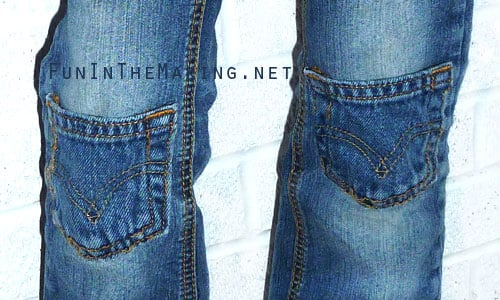 Jean Pocket Patches- Repairing Knee Holes