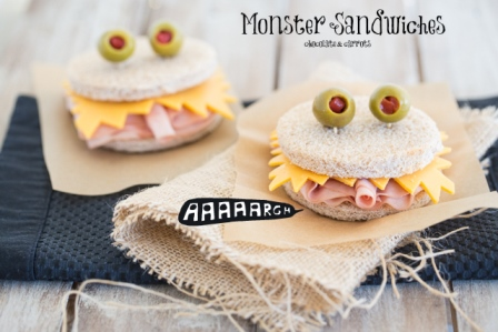 Creative Sandwich Ideas Monster-Sandwiches