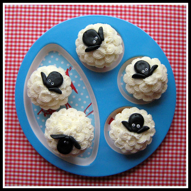 Not Baaaad for a Sheep Cupcake