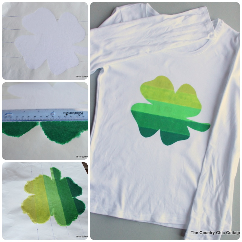 Ombre Clover Pinch Proof St Patricks Day Shirt T Shirt Cool