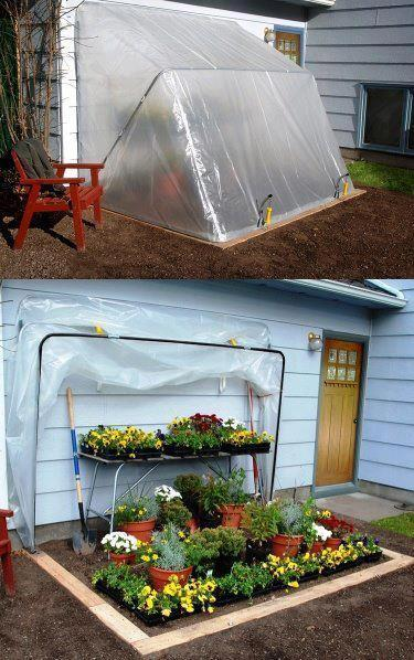 PVC Fold-Down Greenhouse