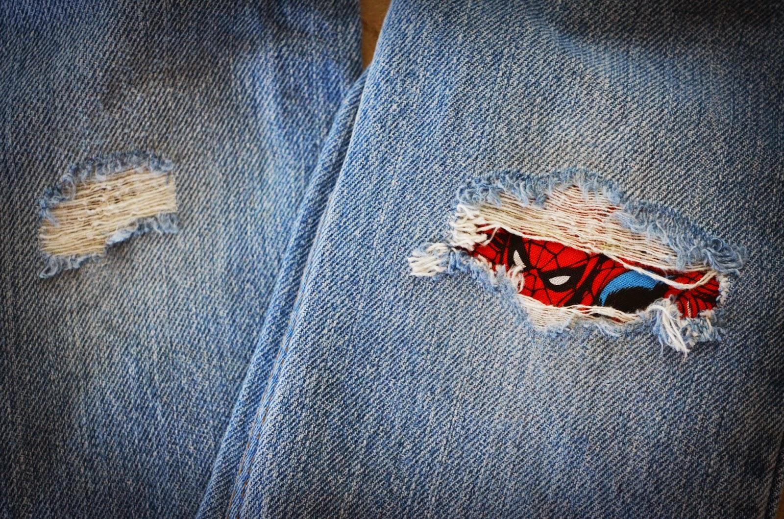 Украсить мужские джинсы своими руками фото