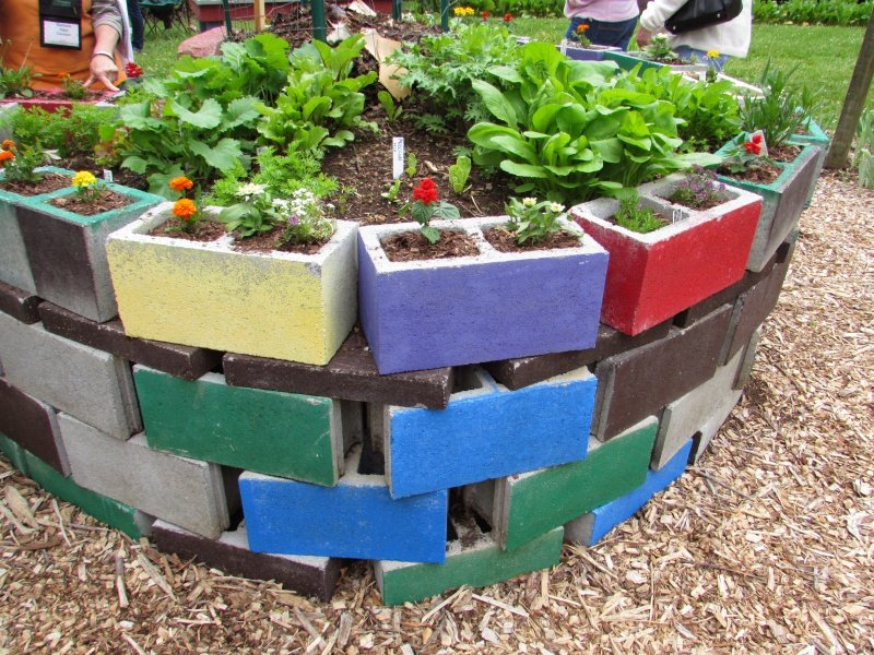 raised Bed Garden Concrete Cinder Blocks