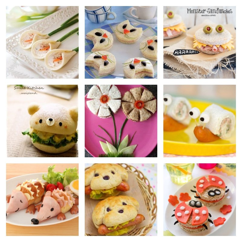 25 creative sandwich ideas that kids will love for Cool food ideas for kids