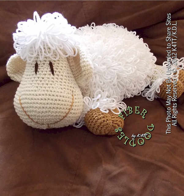 DIY Adorable Crochet or Knitted Lamb Pillow - Page 2 of 2