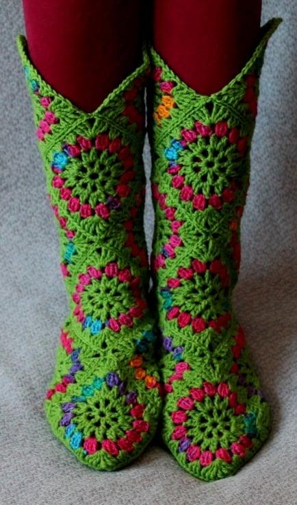 crochet hexagon Boots