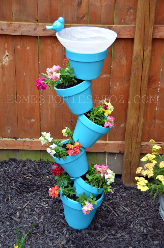 DIY Garden Planter and Birds Bath #garden # Planter #birds bath
