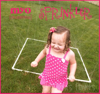 DIY PVC Child's Sprinkler #PVC #Sprinkler