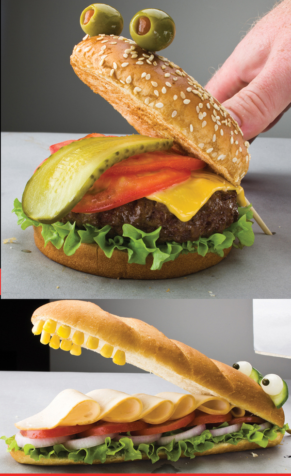 Creative Sandwich Ideas sandwich-animales