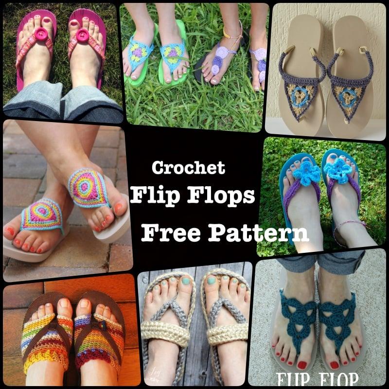18 Crochet Flip Flops with Free Pattern 1
