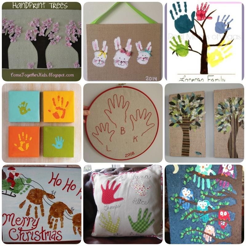 18 Keepsakes Made with Family's Handprint Ideas