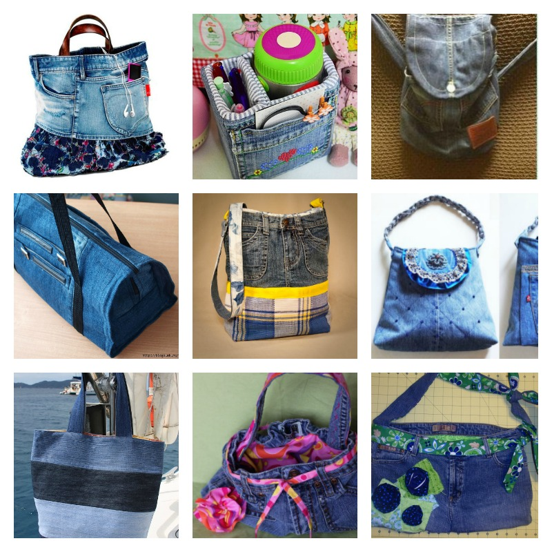 20 Creative Denim Bags Made with Recycled Jeans