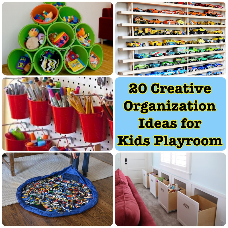 Clever And Creative Ideas For The Ultimate Playroom: 20 Creative Organization Ideas For Kids Playroom