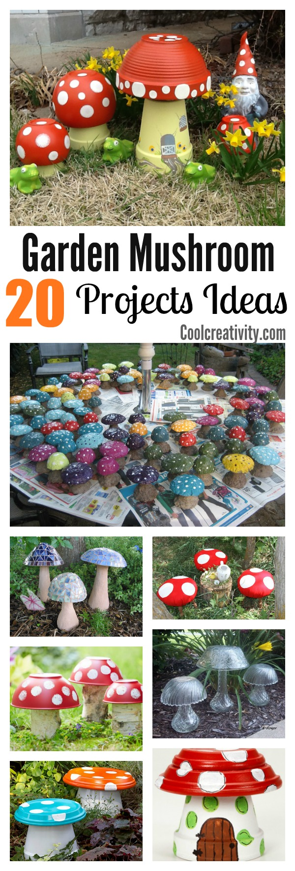 20 Garden Creative Mushroom Projects