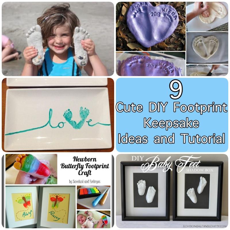 9 Cute DIY Footprint Keepsake Ideas and Tutorial