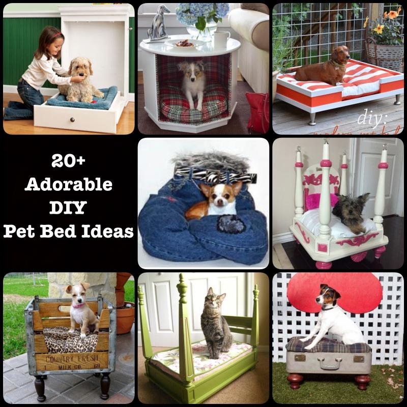 20+ Adorable DIY Pet Bed Ideas