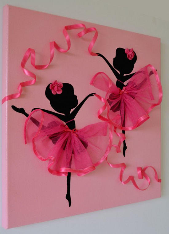 & Ballerina Tutu Canvas Wall Art