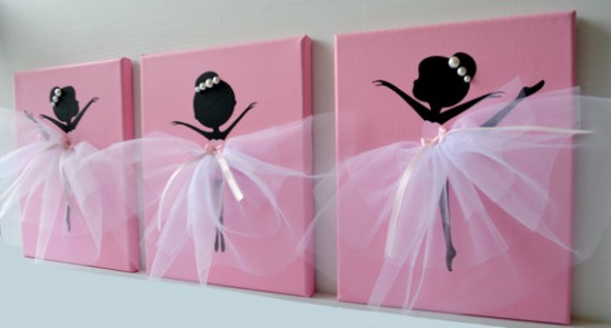 Ballerina Tutu Canvas Wall Art
