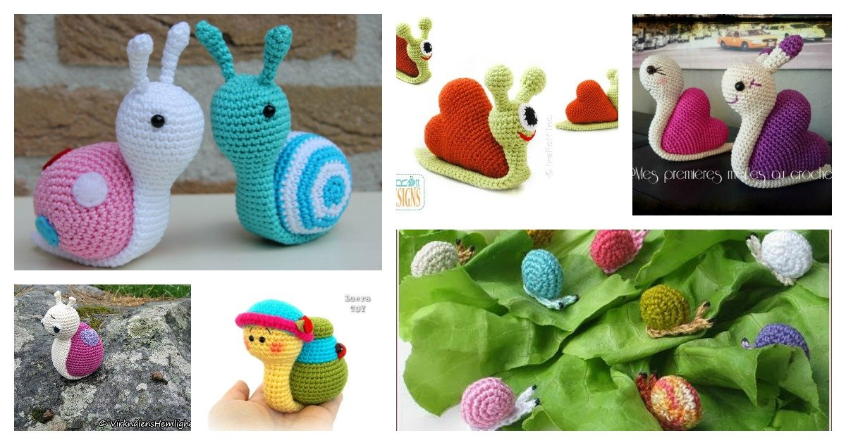 Lady snail amigurumi pattern - printable PDF – Amigurumi Today Shop | 632x1200