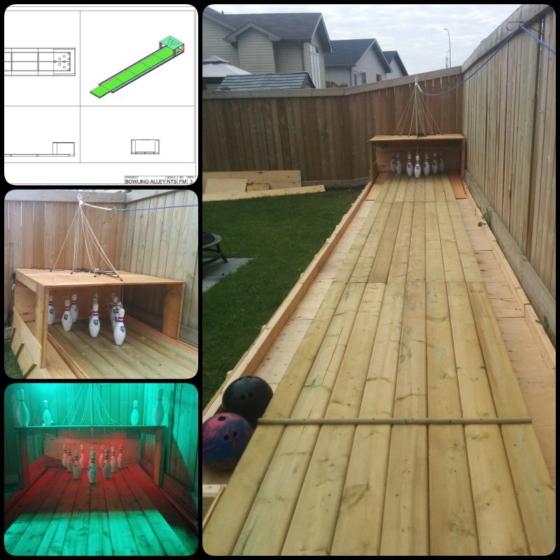 Diy backyard bowling alley for How to build your own basketball court