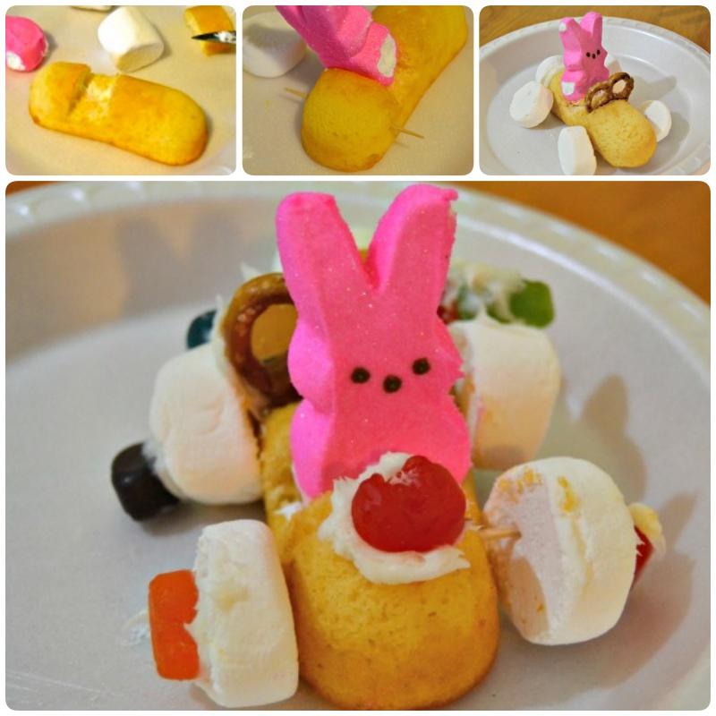 DIY Easter Bunny Peeps Race Cars #Easter #Bunny #Food