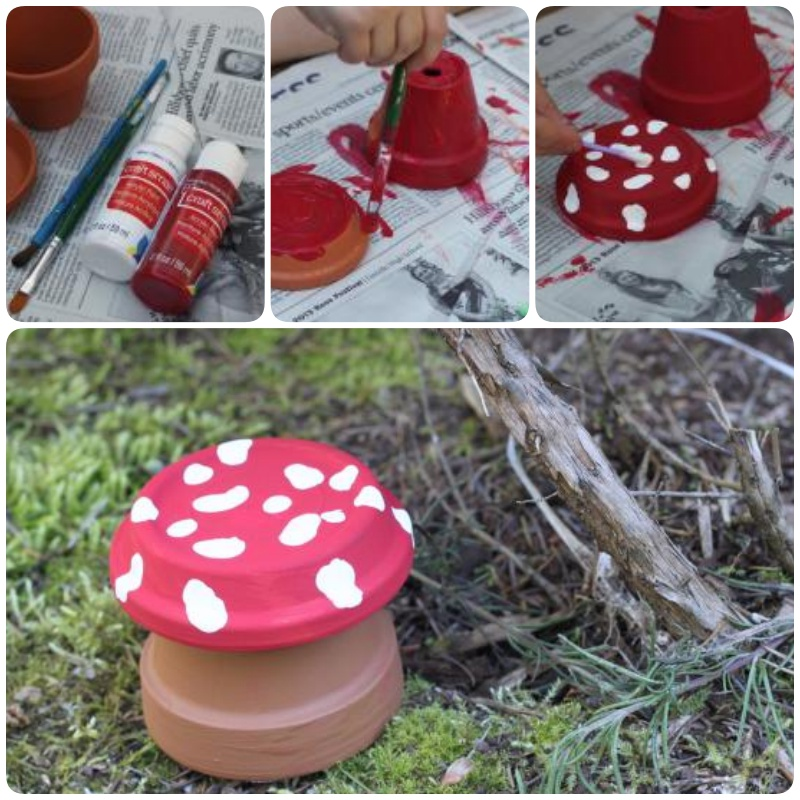 DIY Garden Toadstool